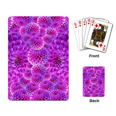 Purple Dahlias Playing Cards Single Design