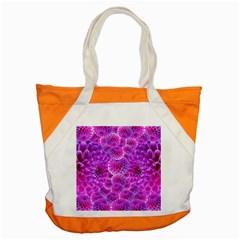 Purple Dahlias Accent Tote Bag