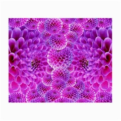 Purple Dahlias Glasses Cloth (Small, Two Sided)