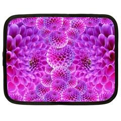 Purple Dahlias Netbook Sleeve (large)