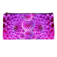 Purple Dahlias Pencil Case