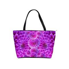 Purple Dahlias Large Shoulder Bag