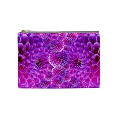 Purple Dahlias Cosmetic Bag (medium)
