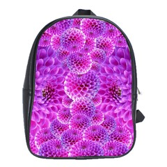 Purple Dahlias School Bag (large)