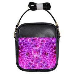 Purple Dahlias Girl s Sling Bag