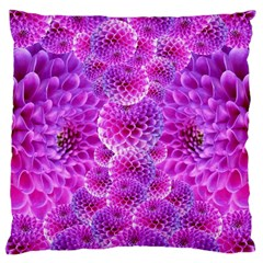 Purple Dahlias Large Cushion Case (two Sided)