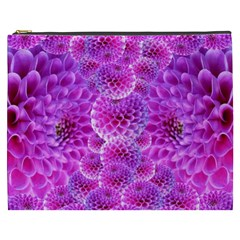 Purple Dahlias Cosmetic Bag (xxxl)