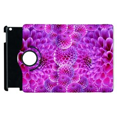 Purple Dahlias Apple Ipad 3/4 Flip 360 Case