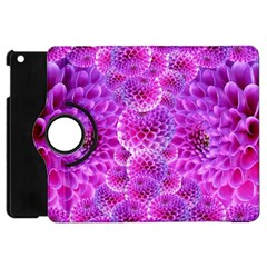 Purple Dahlias Apple Ipad Mini Flip 360 Case