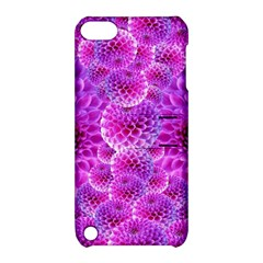 Purple Dahlias Apple Ipod Touch 5 Hardshell Case With Stand