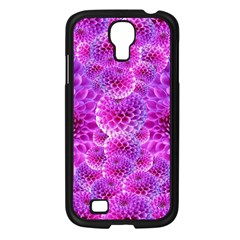 Purple Dahlias Samsung Galaxy S4 I9500/ I9505 Case (Black)