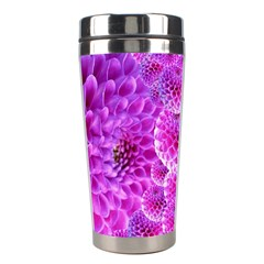 Purple Dahlias Stainless Steel Travel Tumbler