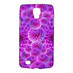 Purple Dahlias Samsung Galaxy S4 Active (I9295) Hardshell Case