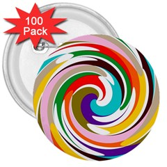 GALAXI 3  Button (100 pack)