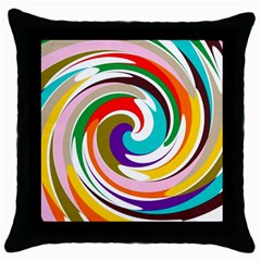 Galaxi Black Throw Pillow Case