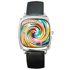 GALAXI Square Leather Watch