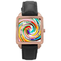 GALAXI Rose Gold Leather Watch