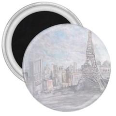 Eiffel Tower Paris 3  Button Magnet