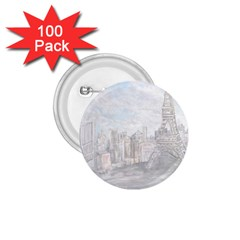 Eiffel Tower Paris 1.75  Button (100 pack)