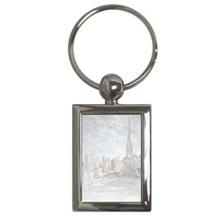 Eiffel Tower Paris Key Chain (rectangle)