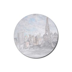 Eiffel Tower Paris Drink Coaster (round)
