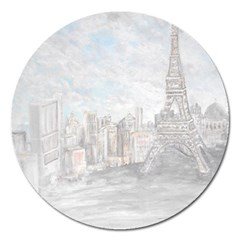 Eiffel Tower Paris Magnet 5  (Round)