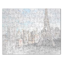 Eiffel Tower Paris Jigsaw Puzzle (Rectangle)