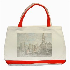 Eiffel Tower Paris Classic Tote Bag (Red)