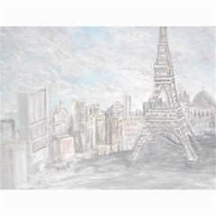 Eiffel Tower Paris Canvas 12  x 16  (Unframed)