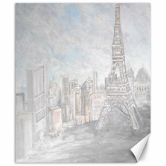 Eiffel Tower Paris Canvas 20  x 24  (Unframed)