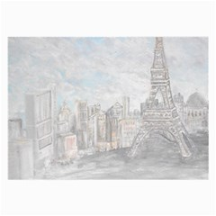 Eiffel Tower Paris Glasses Cloth (large, Two Sided)