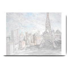 Eiffel Tower Paris Large Door Mat