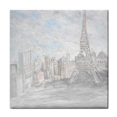 Eiffel Tower Paris Face Towel