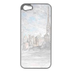 Eiffel Tower Paris Apple Iphone 5 Case (silver)