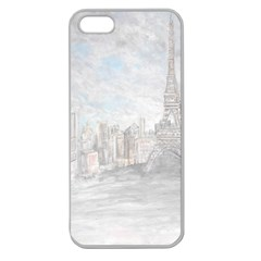 Eiffel Tower Paris Apple Seamless Iphone 5 Case (clear)