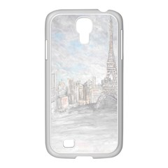 Eiffel Tower Paris Samsung GALAXY S4 I9500/ I9505 Case (White)