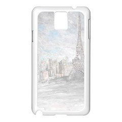 Eiffel Tower Paris Samsung Galaxy Note 3 N9005 Case (White)