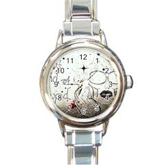 Areyoustupid Round Italian Charm Watch