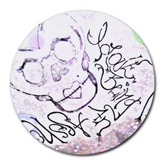 Beautifulmonster Remix 8  Mouse Pad (round)