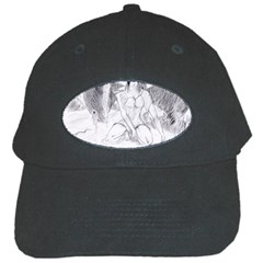 Bleeding Angel 1  Black Baseball Cap