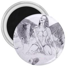 Bleeding Angel 1  3  Button Magnet