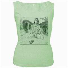 Bleeding Angel 1  Women s Tank Top (Green)