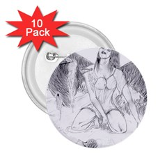 Bleeding Angel 1  2 25  Button (10 Pack)