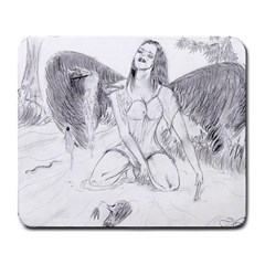 Bleeding Angel 1  Large Mouse Pad (rectangle)