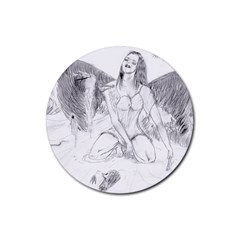 Bleeding Angel 1  Drink Coaster (round)