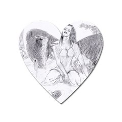 Bleeding Angel 1  Magnet (heart)
