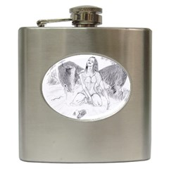Bleeding Angel 1  Hip Flask