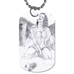 Bleeding Angel 1  Dog Tag (two Sided)