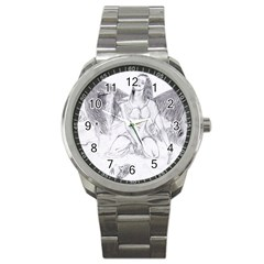 Bleeding Angel 1  Sport Metal Watch