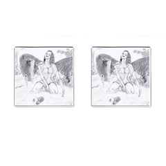 Bleeding Angel 1  Cufflinks (Square)